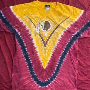 washington redskins nfl tie dye tshirt